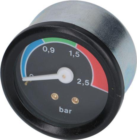 BOILER PRESSURE GAUGE ø 41 mm 0÷2,5 bar