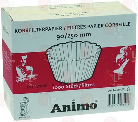 BASKET PAPER FILTER ø 90/250 mm 1000PCS