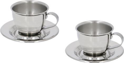 SET 2 COFFEE CUPS STEEL MOTTA