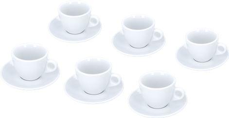 SET 6 CAPPUCCINO CUPS PORTOFINO