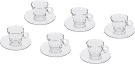 SET 6 COFFEE CUPS OF GLASS