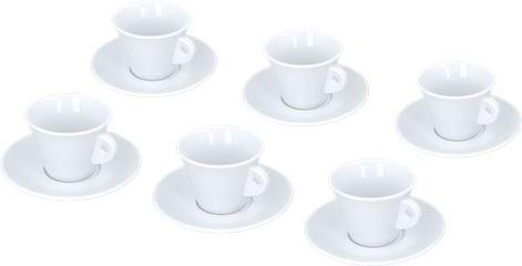 SET 6 CAPPUCCINO CUPS TRIESTE