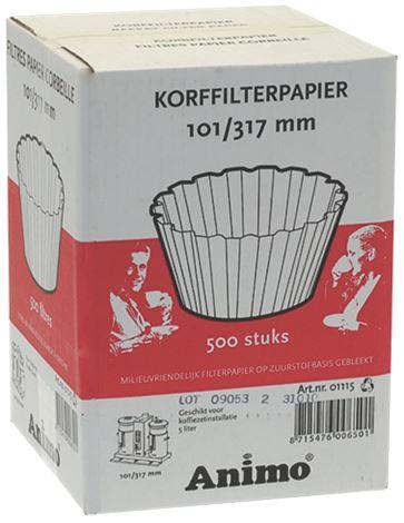 BASKET PAPER FILTER ø 101/317 mm 500PCS