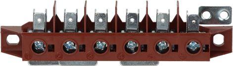 TERMINAL BLOCK 6-POLES FV122/B 40A 600V
