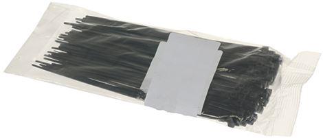 BLACK CLAMP 2.5x160 mm - 100 PCS