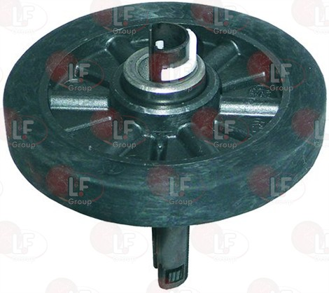 BACK WHEEL FOR DRYER WITH AXIS