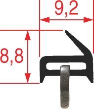 OVEN DOOR GASKET 780x320 mm