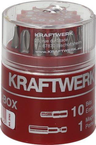 BOX W/11 SCREWDRIVER INSERT BITS