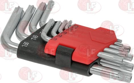 HEX KEY SPANNERS WITH HOLE KIT TORX 9PCS