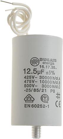 CAPACITOR DUCATI ENERGIA 12,5µF W. CABLE