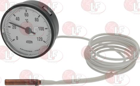 TELE-THERMOMETER WHITE ø 52 mm 0-120°C