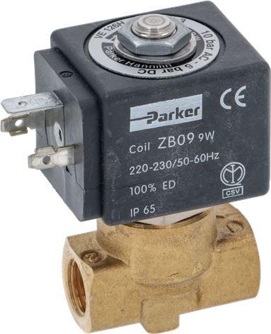 SOLENOID VALVE PARKER 2 WAYS 9W 220/230V