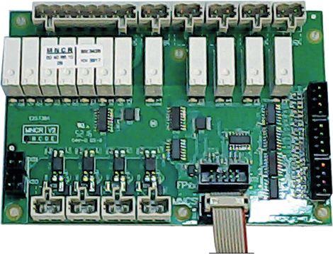 SCHEDA RELE'24VDC 133X93 MM