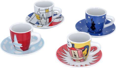 SET 4 CUPS BIALETTI ART