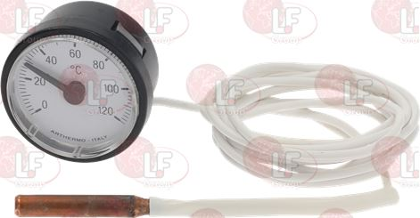 TELE-THERMOMETER WHITE ø 42 mm 0-120°C