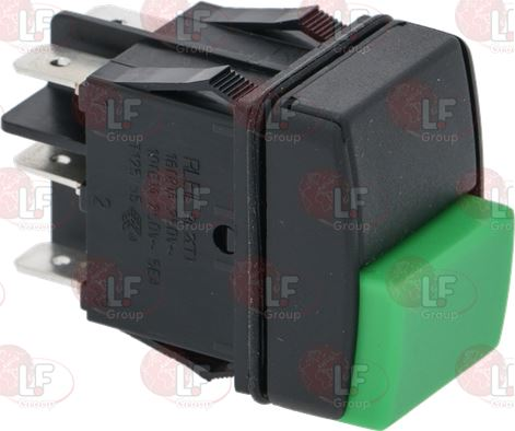BIPOLAR SWITCH BLACK AND GREEN 16A 250V