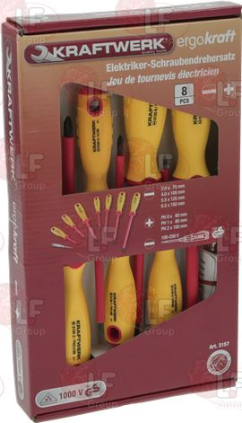 INSULATED SCREWDRIVERS KIT 8 PCS
