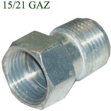 RACCORD GAZ DROIT 1/2 F-1/2 M